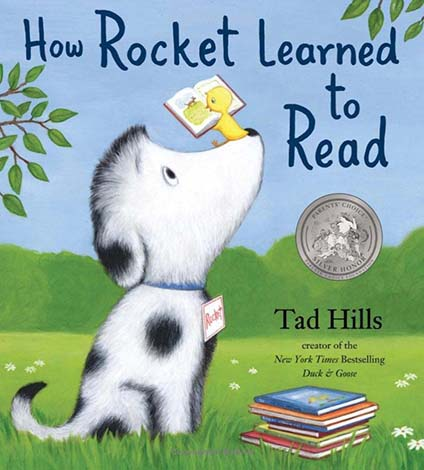 How Rocket Learned to Read award-winning children's book front cover